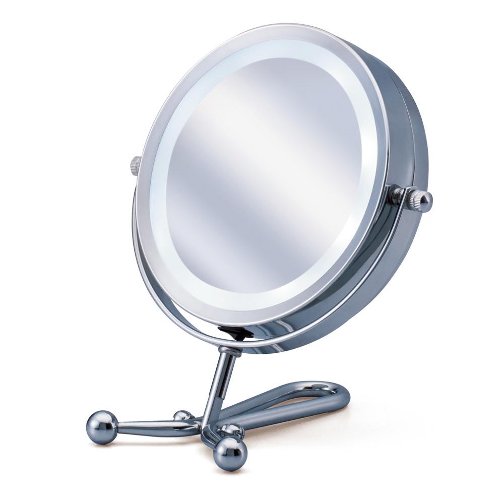 ディノス オンラインショップLED付き両面ミラー 手鏡型(等倍・7倍両面鏡)