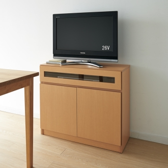 【完成品・国産家具】ベッドルームで大画面シアターシリーズ テレビ台 幅80高さ70cm