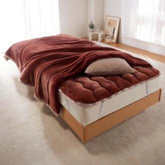 ディノス オンラインショップダブル(【TEIJIN】あったか毛布 お得な掛け+敷きセット)ブラウン