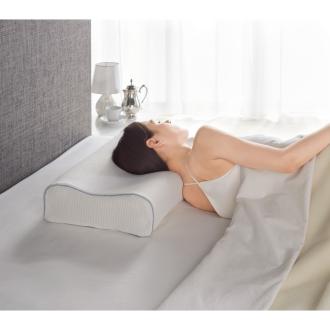 フランスベッド マカロン枕(枕カバー付き)ホワイト
