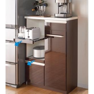 はみ出すキッチンひとまとめカウンター 幅80.5cm