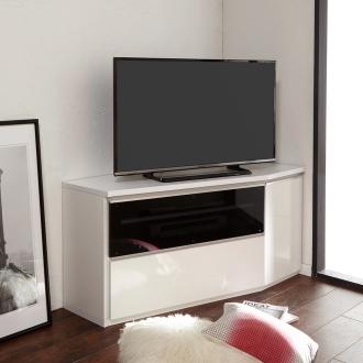住宅事情を考えたコーナーテレビ台 ハイタイプ 幅123.5cm・ 右コーナー用(右側壁用)