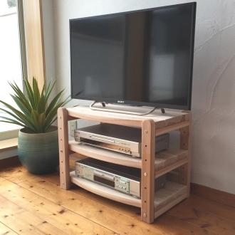 国産杉 頑丈オープンテレビ台 テレビ台・幅59高さ44cm