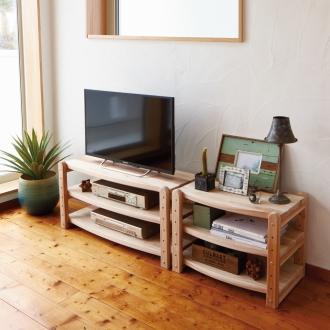 国産杉 頑丈オープンテレビ台 テレビ台・幅89高さ44cm