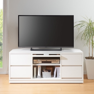 角度が自由自在の収納充実コーナーテレビ台 幅120高さ50cm