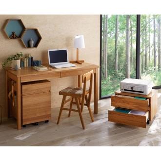 タモ天然木 スマート配線 無垢材頑丈デスクシリーズ デスク・幅125cm
