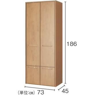 本格派 スライド収納書棚 幅広 2列 幅73cm
