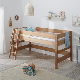 タモ天然木システムベッドシリーズ ミドルベッド