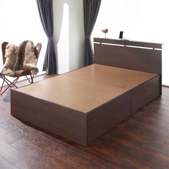 【セミダブル・フレームのみ】収納ケースを隠してしまえるベッド