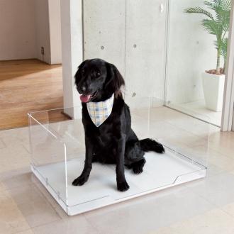 クリアトワレ ラージ 飛散ガード付き ペット用トイレ 中~大型犬用(体重約15kg以下対応)