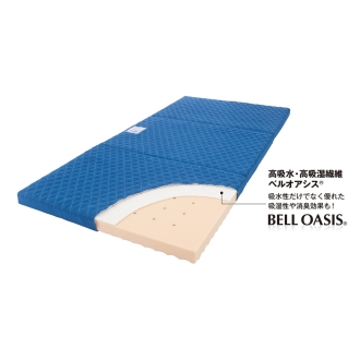 ダブル(高硬度・軽量・除湿!ブリヂストンの選べる3つ折りマットレス ベーシック+除湿力UPタイプ 厚さ12cm)