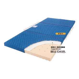 シングル(高硬度・軽量・除湿!ブリヂストンの選べる3つ折りマットレス 寝心地UP+除湿力UPタイプ 厚さ4cm)