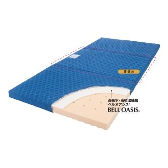 シングル(高硬度・軽量・除湿!ブリヂストンの選べる3つ折りマットレス 寝心地UP+除湿力UPタイプ 厚さ12cm)
