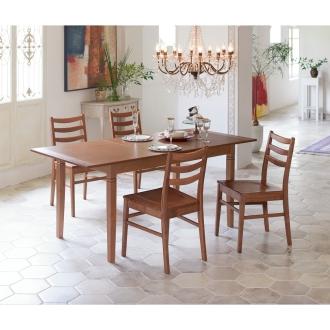 イタリアデザイン伸長式ダイニング 5点セット(伸長式テーブル+チェア2脚組×2)