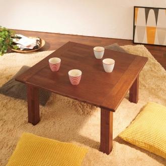 ウイスキーオークこたつテーブル 正方形