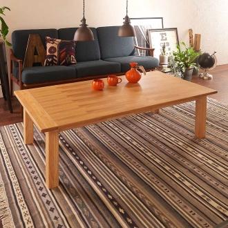 ウイスキーオークこたつテーブル 長方形 幅150×奥行80cm