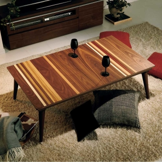 ミックスウッドこたつテーブル ロータイプこたつ