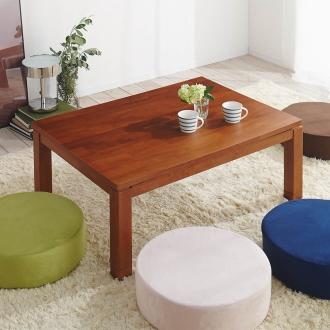 天然木モダン継ぎ脚こたつテーブル 長方形 幅105×奥行75cm
