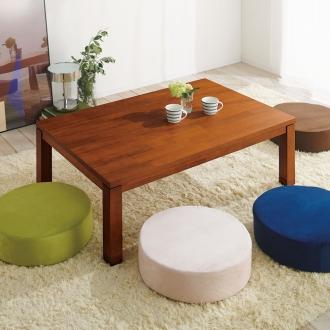 天然木モダン継ぎ脚こたつテーブル 長方形 幅120×奥行80cm