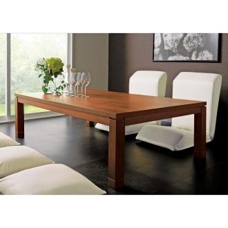 天然木モダン継ぎ脚こたつテーブル 長方形 幅150×奥行90cm