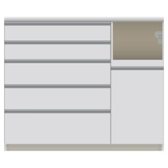 家電が使いやすいハイカウンター奥行50cm キッチンカウンター高さ101cm幅120cm/パモウナVQL-1200R 下台 VQR-1200R 下台