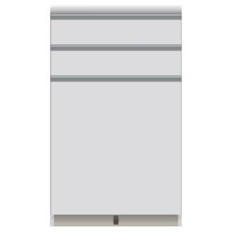 家電が使いやすいハイカウンター奥行50cm キッチンカウンター高さ101cm幅60cm/パモウナVQ-600K 下台