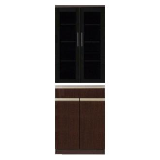 高機能 モダンシックキッチン 食器棚 幅60奥行51高さ178cm