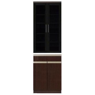 高機能 モダンシックキッチン 食器棚 幅60奥行51高さ193cm