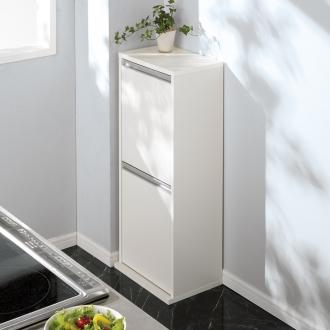 ゆっくり閉まる家具調ダストボックス 2分別 幅39.5奥行28高さ94cm