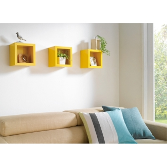 壁面を彩るツヤツヤ壁掛けラック 1マス・幅22cm