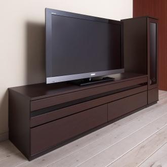 ディノス オンラインショップ上質な時を奏でる!ラインスタイルシリーズ テレビ台 幅150cmダークブラウン