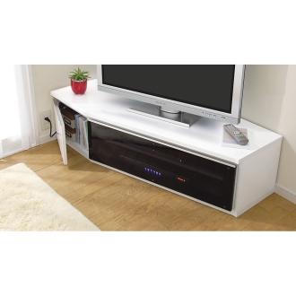 住宅事情を考えたコーナーテレビボード 幅123.5cm・左コーナー用(左側壁用)