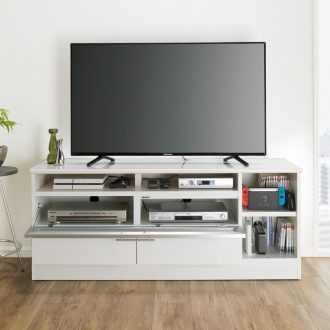 ディノス オンラインショップゲーム機が収納しやすいテレビ台 幅147cmホワイト