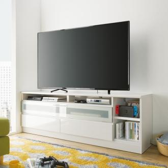 ディノス オンラインショップゲーム機が収納しやすいテレビ台 幅180cmホワイト