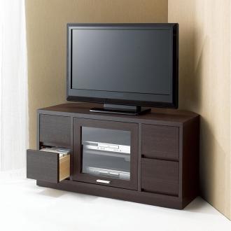 角度が自由自在の収納充実コーナーテレビ台 幅100高さ50cm