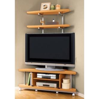 テレビ上の空間を有効活用できるシリーズ コーナー用テレビ台 幅120cm・棚2段