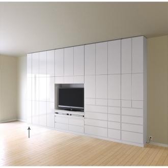 奥行34cm薄型で配線も隠せるスマート壁面収納 収納庫 扉タイプ 幅29cm