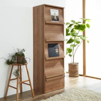 ディノス オンラインショップ天然木調ディスプレイブックシェルフ 幅60cmブラウン