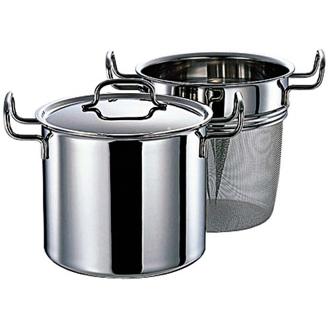 "Dr. Hattori stainless steel 7-story structure pot ""geo"" pasta pot 21 cm"