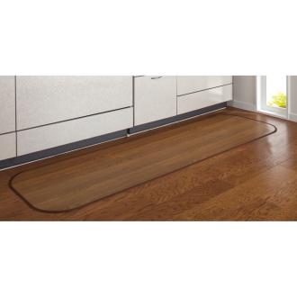 幅約45×丈約300cm (消臭加工フローリング調 キッチンマット)