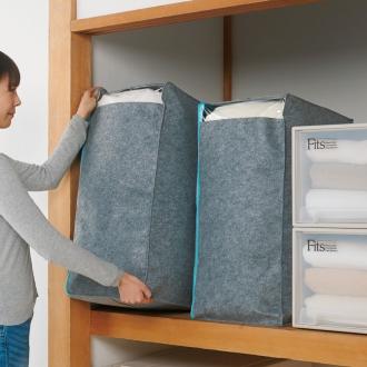 ディノス オンラインショップ吸湿・消臭AirJob(R)布団収納袋 お得な2個組 大グレー