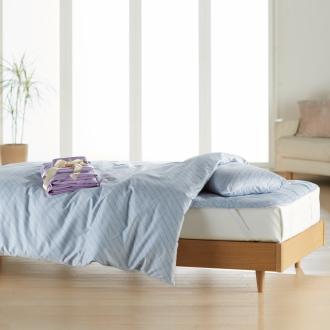 ベッド用ダブル8点(お得な完璧セット(布団+カバー))