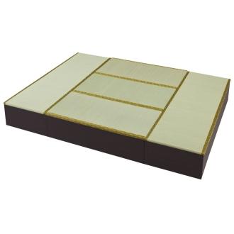 ディノス オンラインショップユニット畳シリーズ お得なセット 6畳セット 幅180奥行240cm 高さ31cmダークブラウン
