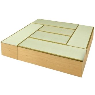 ディノス オンラインショップユニット畳シリーズ お得なセット 8畳セット 幅240奥行240cm 高さ45cmダークブラウン