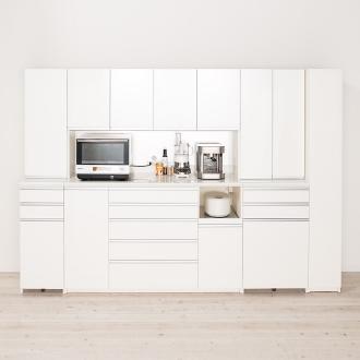 家電が使いやすいハイカウンター奥行50cm 食器棚高さ203cm幅40cm/パモウナDQ-400KL DQ-400KR