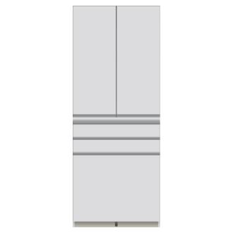 家電が使いやすいハイカウンター奥行50cm 食器棚高さ203cm幅90cm/パモウナDQ-800K