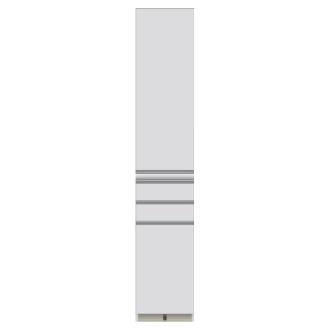 家電が使いやすいハイカウンター奥行50cm 食器棚高さ214cm幅40cm/パモウナCQ-400KL CQ-400KR