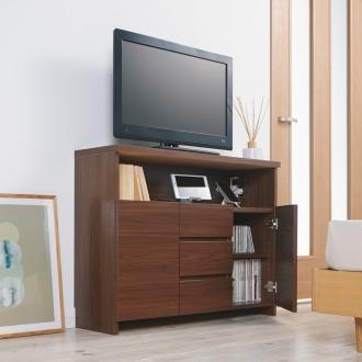 オープン棚付き薄型テレビ台シリーズ 幅89.5cm