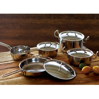 """With benefits! IH support Hattori teacher stainless steel 7-story structure pot """"geo"""", set of 4"""