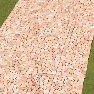 ディノス オンラインショップ雑草が生えない天然石マット お得な同色48枚組ピンク
